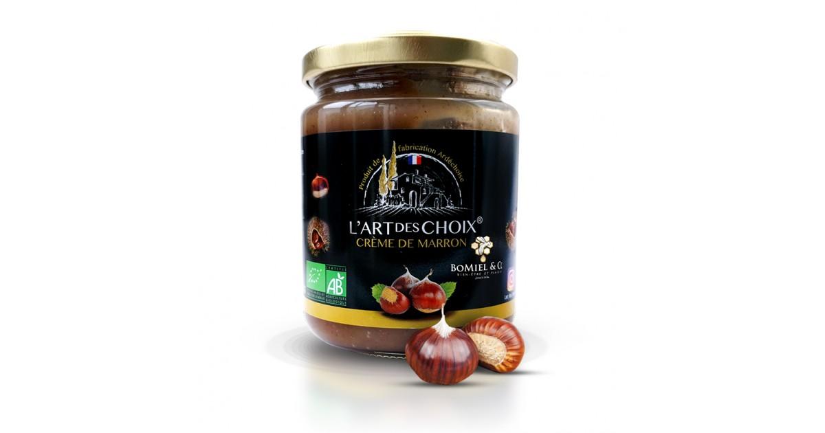 Crème de marron à la vanille certifié AB