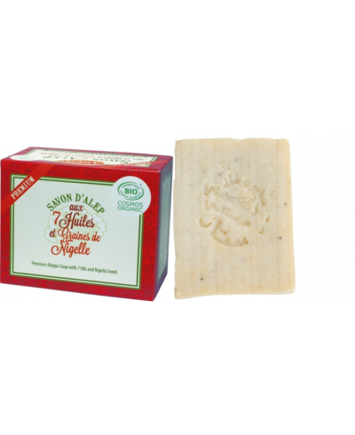 Premium Aleppo soap with 7 oils and seeds