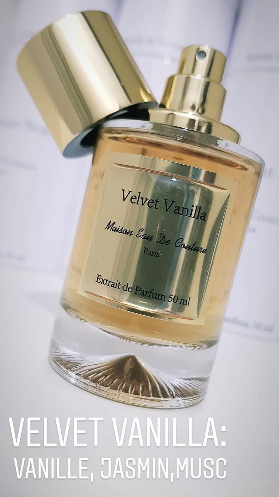Velvet vanilla Maison eau de couture