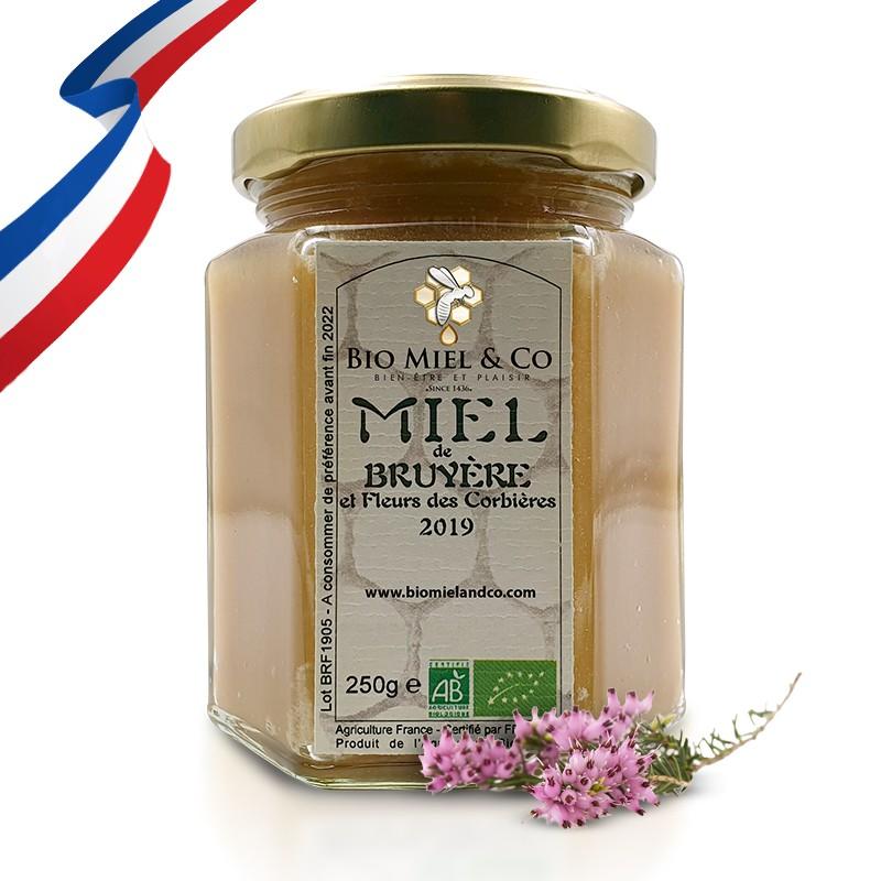 MIEL DE BRUYÈRE certifié AB BIO de France (Corbières)