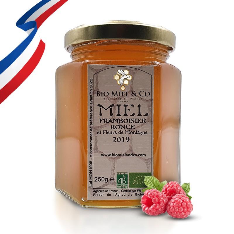MIEL DE FRAMBOISIER / RONCE certifié AB BIO de France (Pyrénées)