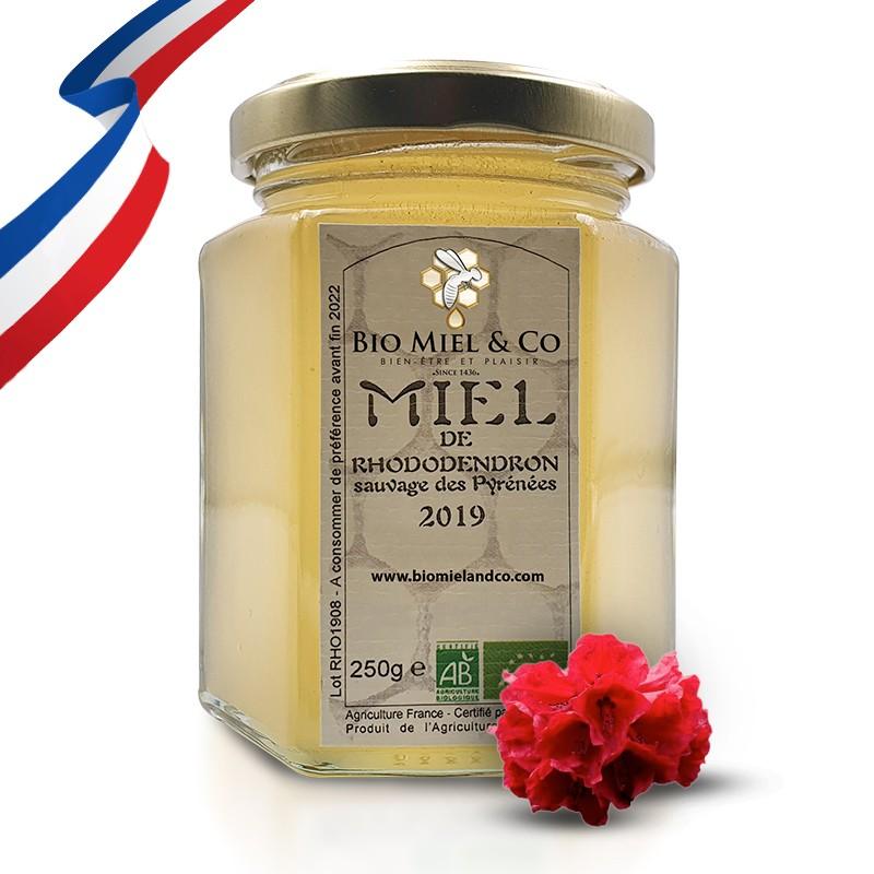 MIEL DE RHODODENDRON SAUVAGE certifié AB BIO de France (Pyrénées)Catalogue  Produits
