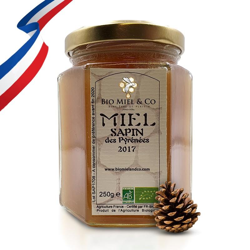 MIEL DE SAPIN certifié AB BIO de France (PYRÉNÉES)