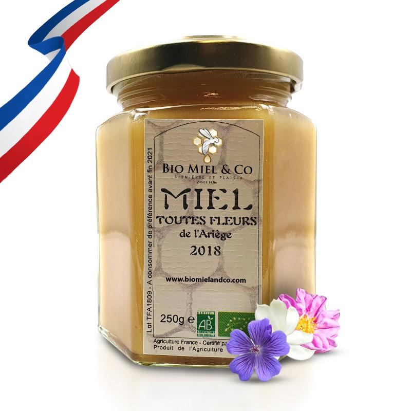 MIEL TOUTES FLEURS certifié AB BIO de France (Ariège)