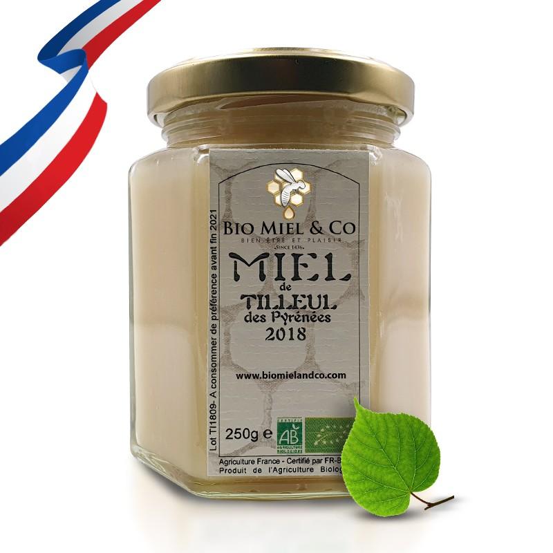 MIEL DE TILLEUL certifié AB BIO de France (PYRÉNÉES)