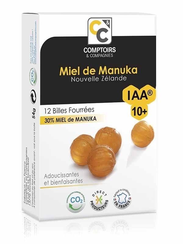 Billes fourrées 30% Miel de Manuka - IAA 10+