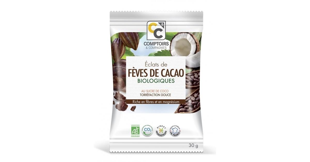 ÉCLATS DE FÈVES DE CACAO BIO