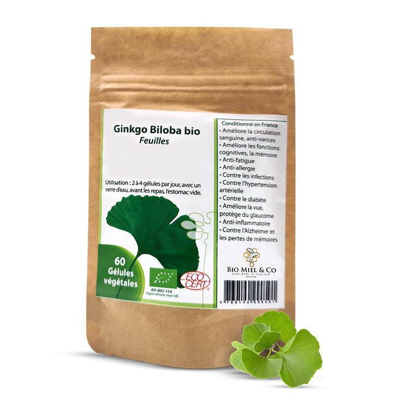 Organic Ginkgo capsules