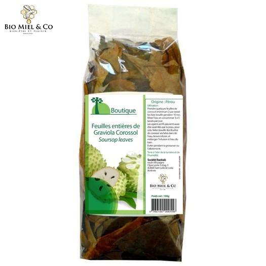 Feuilles entières de Graviola Corossol (anti-cancer)