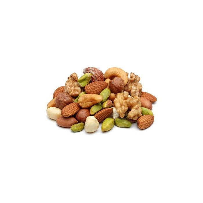 BIO (Aprikosen-Nuss-Mandel-Trauben-Haselnuss-Apfel-Banane) Trockenobst-Mischung