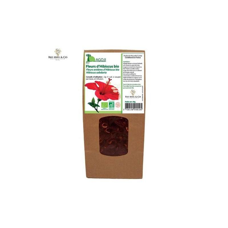 Flores orgánicas de hibisco