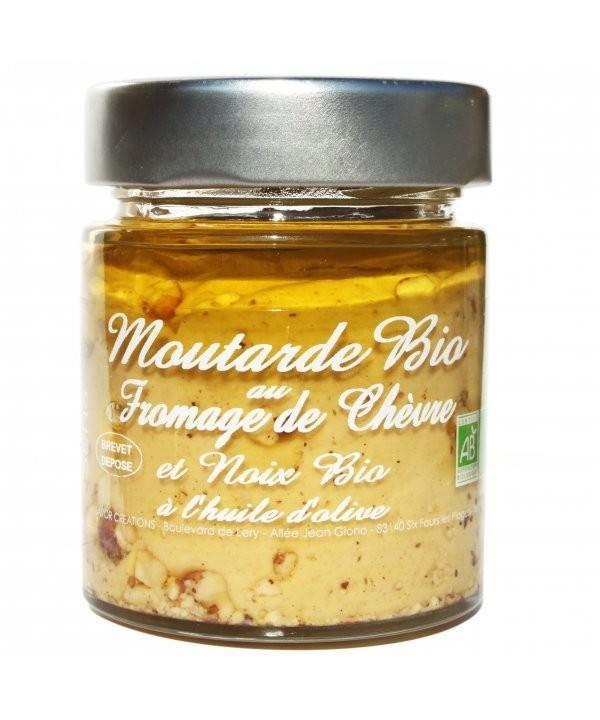 Moutarde Fromage de chèvre et noix BIO