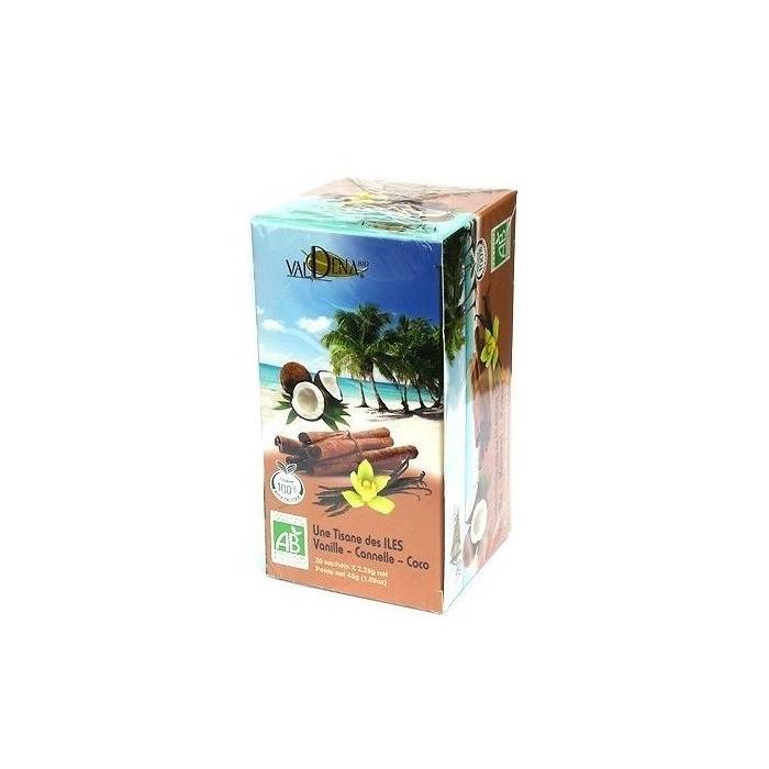 Bio-Island-Kräutertee (Vanille, Zimt, Kokosnuss)