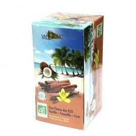 Tisane des îles Bio (vanille, cannelle, coco)