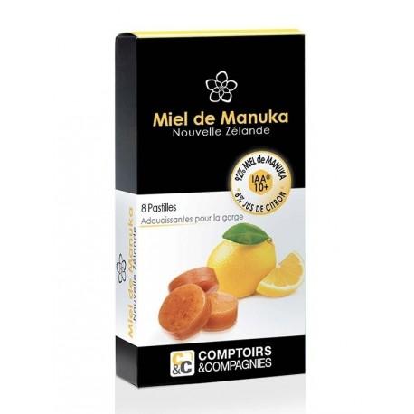 Pastilles with Manuka honey (92%) and lemon juice (8%)
