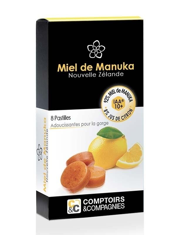 Pastilles 92% miel de Manuka 8% jus de citron bio