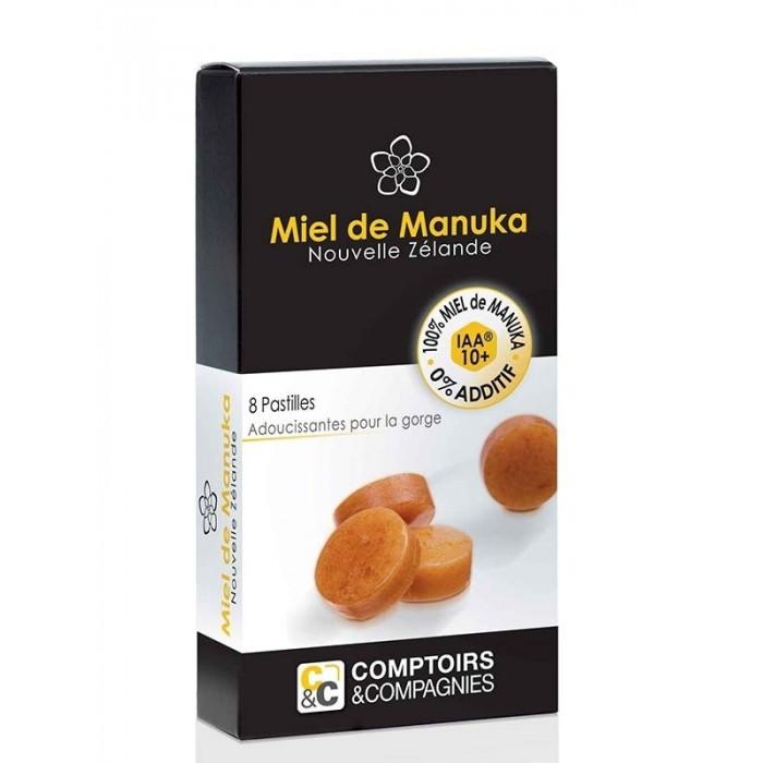 Pastillas con miel de Manuka (92%) y jugo de limón (8%)