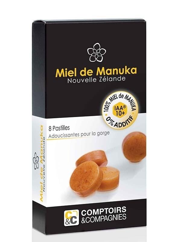 Pastillen mit Manukahonig (92%) und Zitronensaft (8%)