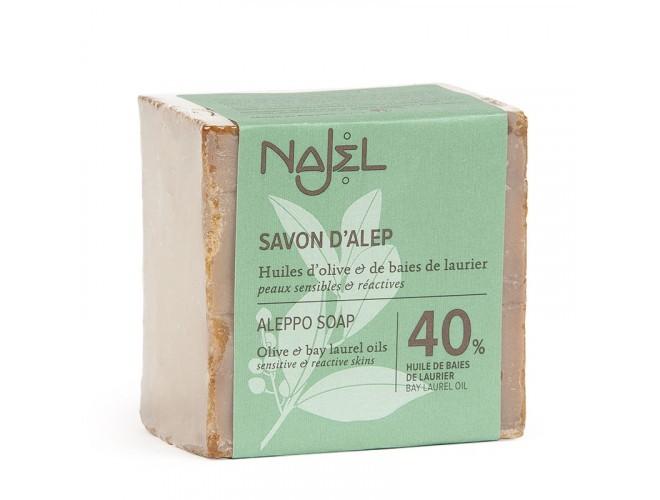 Jabón Aleppo con un 40% de Bay Bay Oil